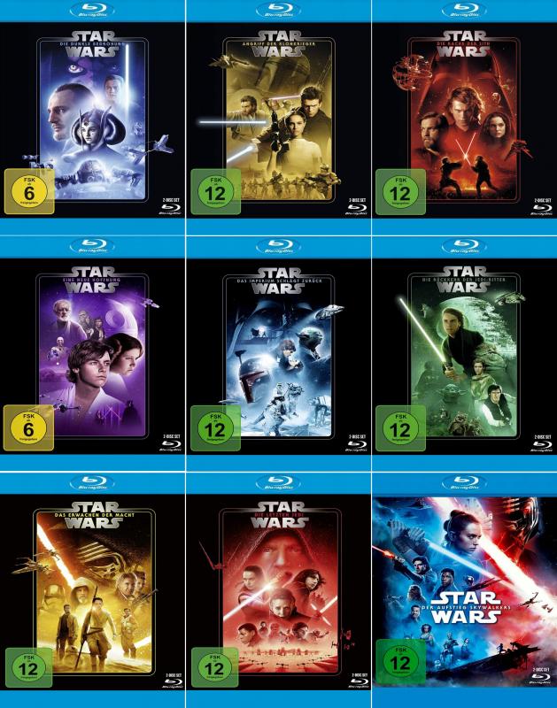 Star Wars 1 - 9 Komplett Paket (18-Blu-ray)
