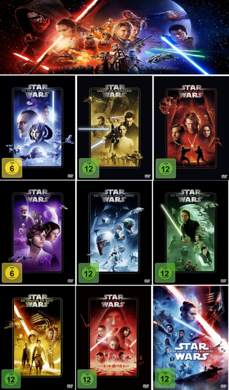 Star Wars 1 - 9 Komplett Paket (9-DVD)