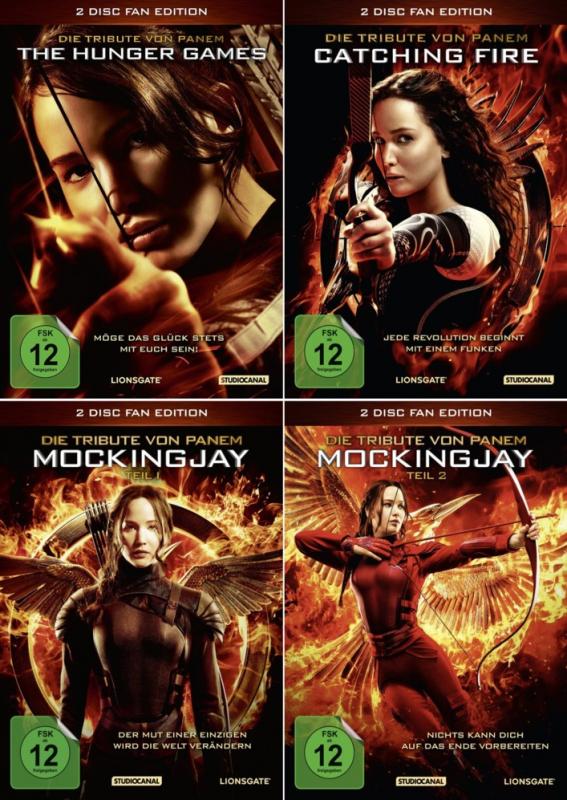 Die Tribute von Panem 1 + 2 + Mockingjay 3.1 + 3.2 Fan Edition (8-DVD)