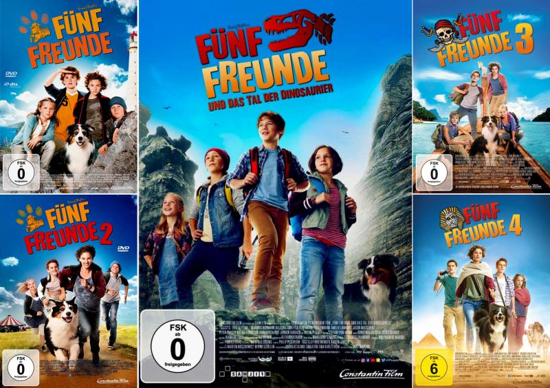 Fünf Freunde 1 + 2 + 3 + 4 + 5 Collection (5-DVD)