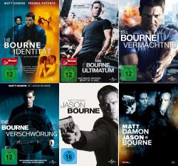 Die Bourne Collection - Jason + Identität + Vermächtnis + Verschwörung + Ultimatum (5-DVD)